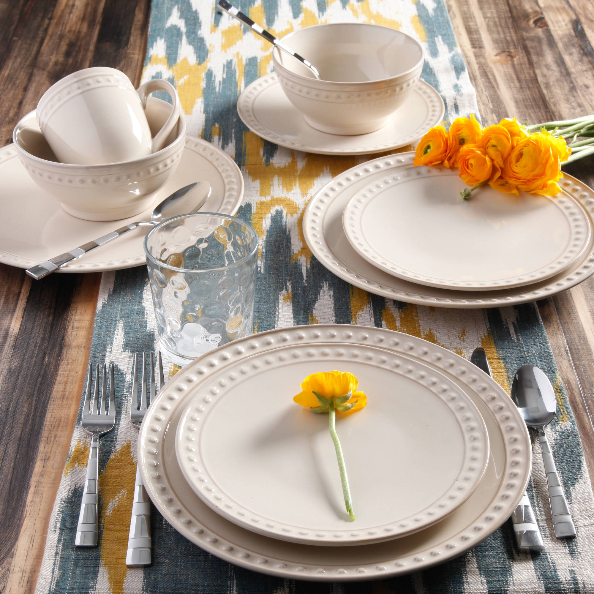 Better Homes And Gardens Amity 16 Piece Dinnerware Set   Walmart.com