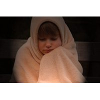 LAMINATED POSTER Alone Blanket Lonely Child Freeze Girl Evening Poster Print 11 x 17