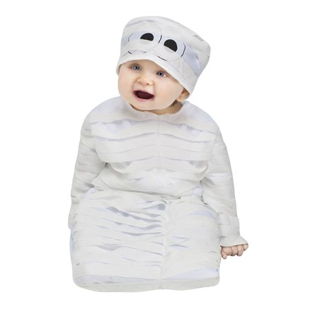Baby Mummy Bunting Halloween Costume Size Up to 9 Months - Mummy Halloween Face