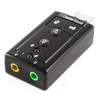 Unique Bargains Desktop Black External USB 2.0 to 3D Virtual Audio Sound Card Adapter 7.1 CH