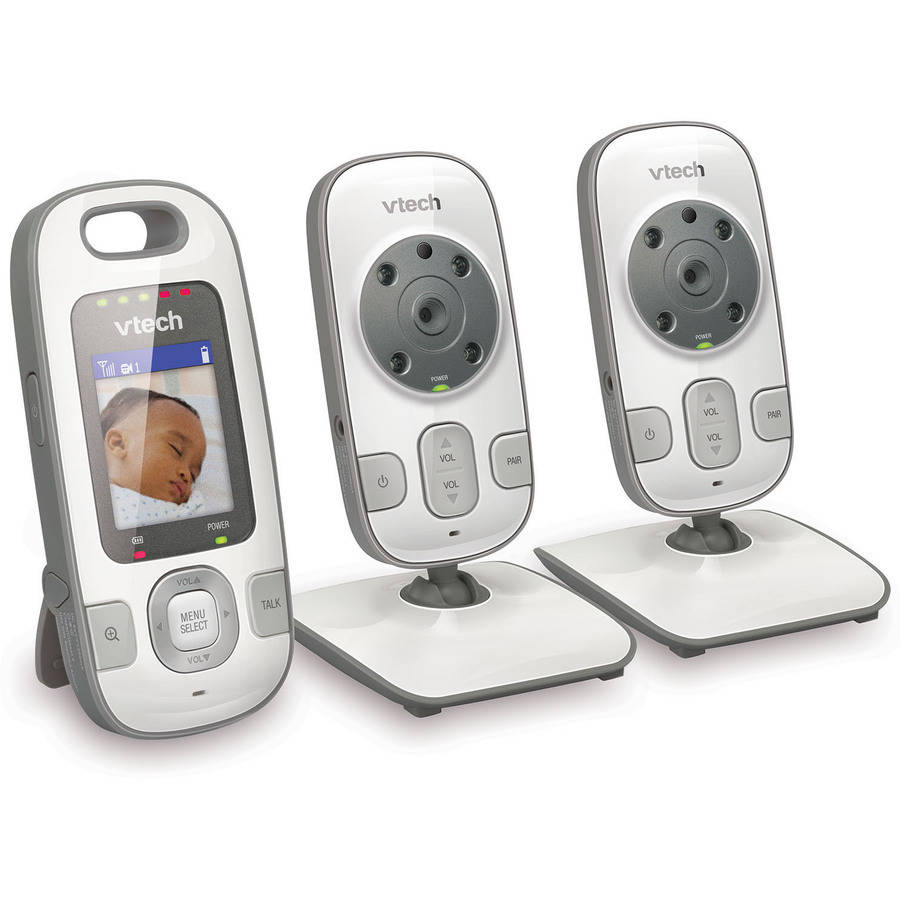 VTech VM312-2 Safe & Sound Video Baby Monitor with Night Vision and 2 Cameras