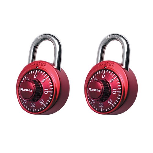 Master Lock Color Combination Locks, 2pk Color May Vary