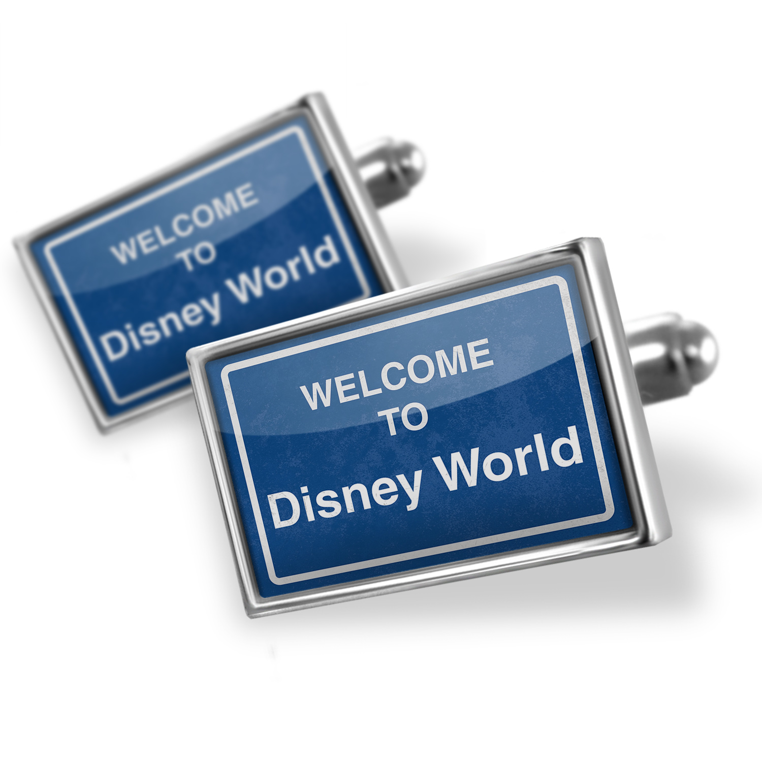 Cufflinks Sign Welcome To Disney World - NEONBLOND