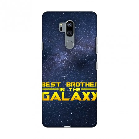 LG G7 Case, LG G7 ThinQ Case, Slim Fit Handcrafted Designer Printed Snap on Hard Shell Case Back Cover for LG G7 ThinQ - Best Brother In The