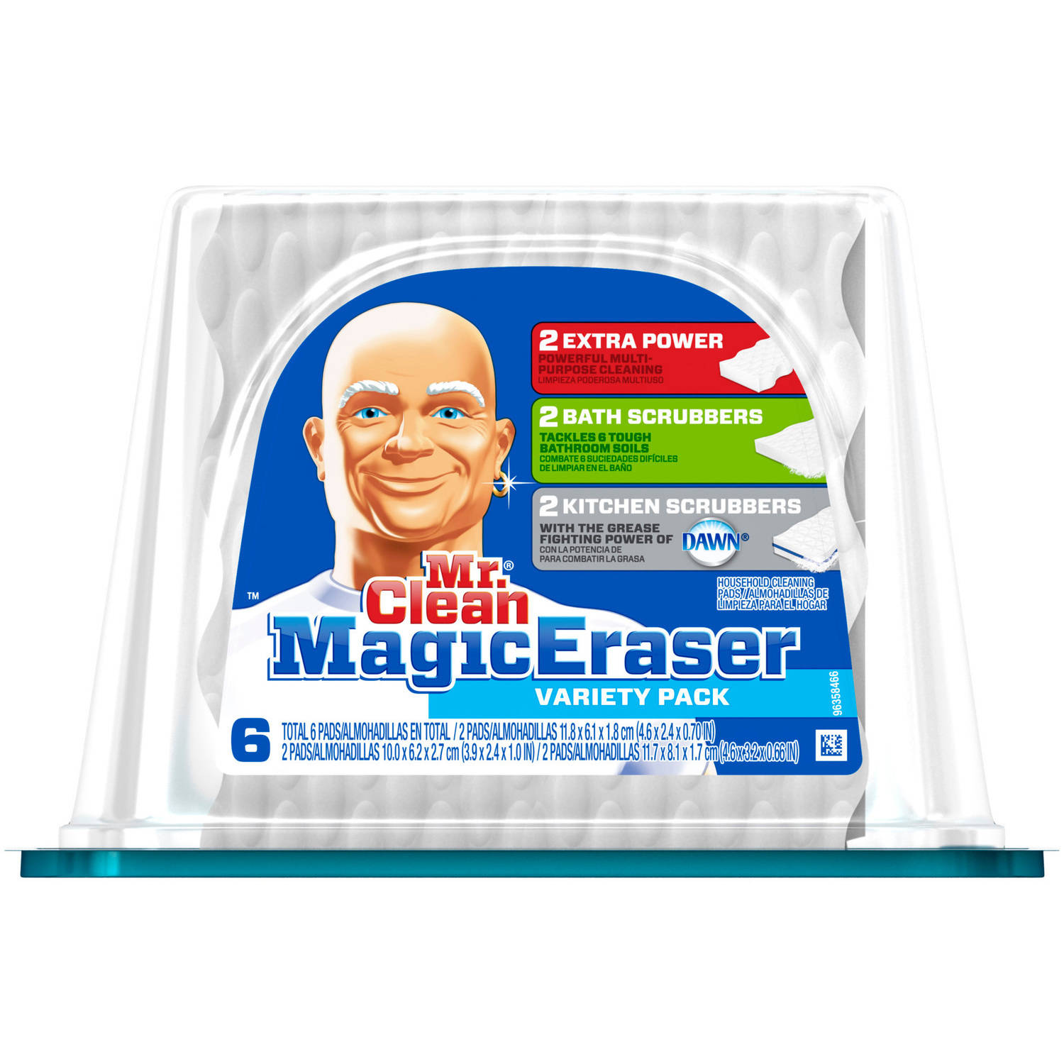Mr. Clean Magic Eraser Cleaning Pads Variety Pack, 6 count