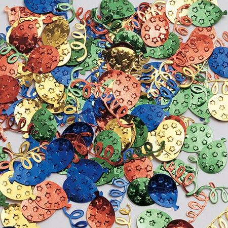 Creative Converting Balloon And Streamer Confetti, 0.5 oz (Streamers And Confetti)