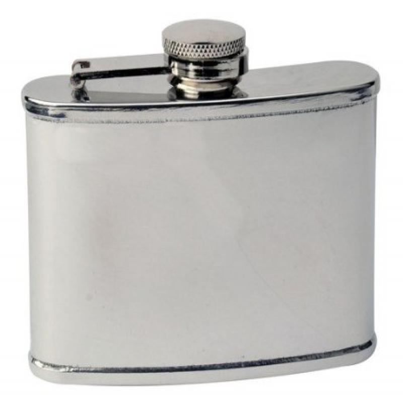 FJX Wholesale HFL-MC003 3oz Mirrored Stainless Hip Flask