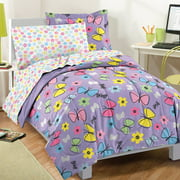 Dream Factory Sweet Butterfly Comforter Set with Sheets