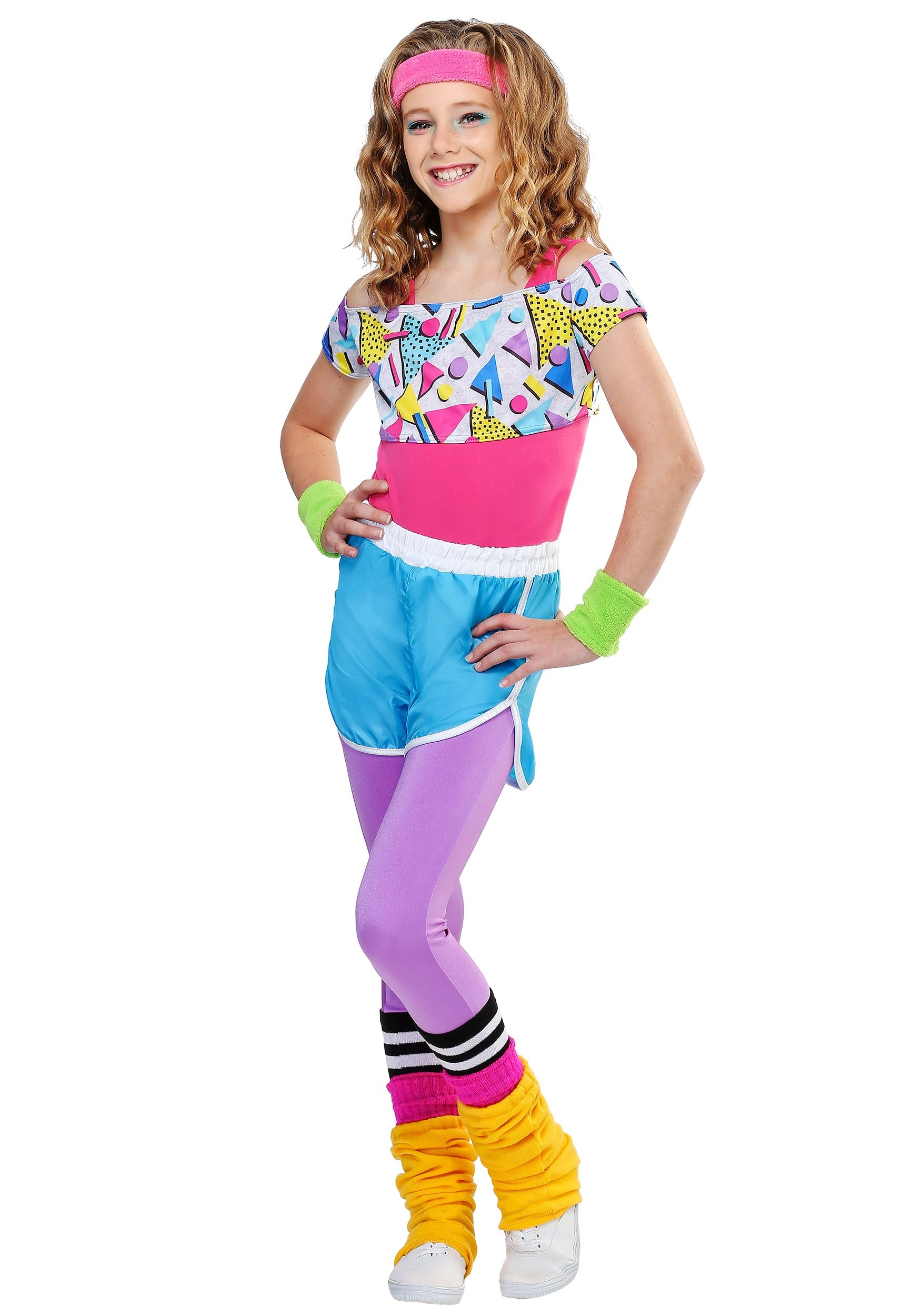 girl's work it out 80s costume  walmart