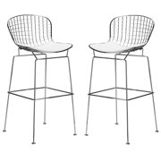 Poly and Bark Morph Bar Stool in White (Set of 2) by Supplier Generic