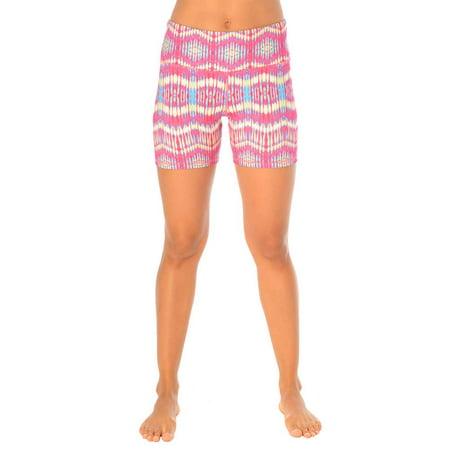 90 Degree By Reflex - Printed Yoga Running Shorts