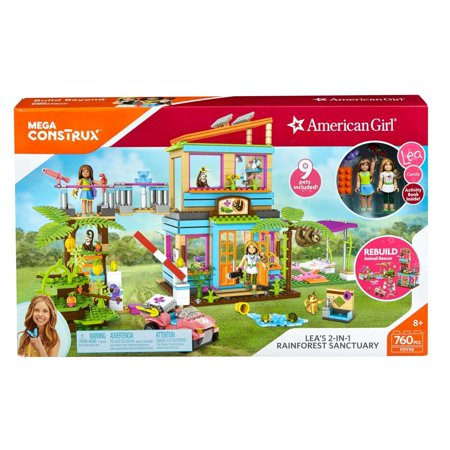 Mega Construx American Girl Leas 2 In 1 Rainforest Sanctuary Construction Set