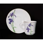 Euland China DSFL2-004ICS 8-Piece Cup And Saucer Set - Iris