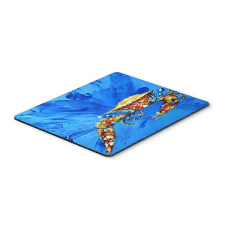 Big Spash Crab In Blue Mouse Pad  Hot Pad Or Trivet Mw1163mp