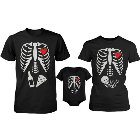 Skeleton Family Family Matching Shirts and Bodysuit](Women's Skeleton Bodysuit)