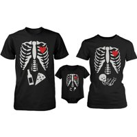 Skeleton Family Family Matching Shirts and Bodysuit