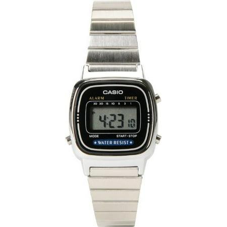 casio - g-shock small digital classic series women s stylish watch - silver    one size - Walmart.com 241864265c