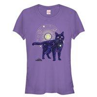 Marvel Juniors' Captain Marvel Celestial Goose Cat T-Shirt