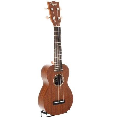 Ohana Soprano Ukulele with Solid Top, Back, and Sides, SK-25 ()