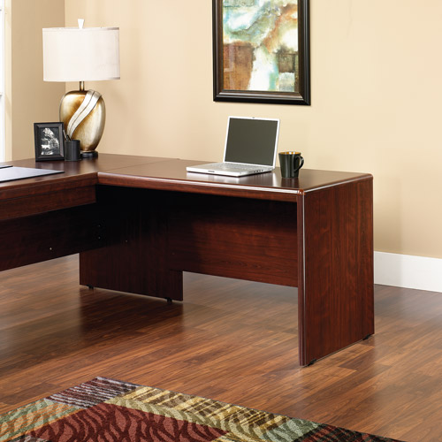 "Sauder Cornerstone 48"" Desk Return, Classic Cherry Finish"