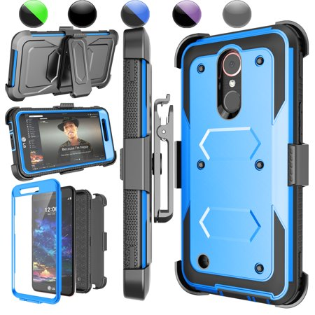 brand new 85b16 37cee LG K20 Plus Case, LG Harmony Holster Belt, LG K20 V / V5 / LG K10 2017  Clip, Njjex Blue [Built-in Screen Protector] with Kickstand + Holster Belt  Clip ...