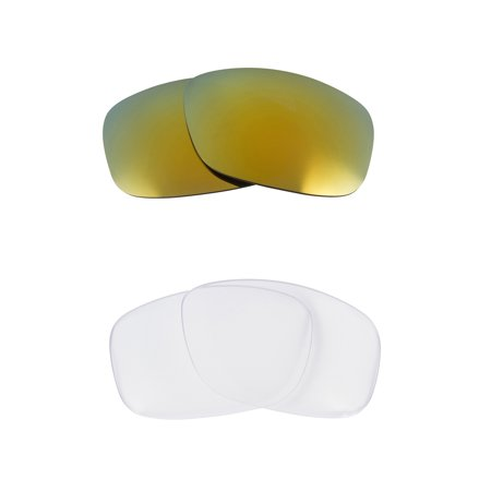 SLIVER Replacement Lenses Crystal Clear & Green by SEEK fits OAKLEY (Crystal Green Lens)