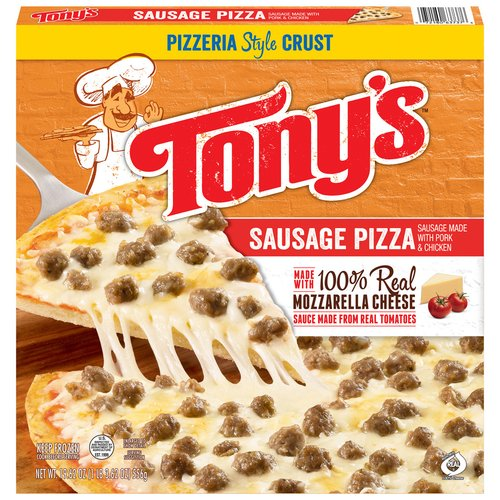 Tony's Pizzeria Style Crust Sausage Pizza, 19.62 oz