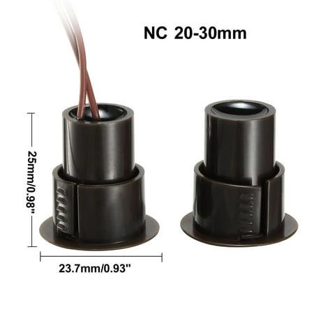 RC-36 NC Recessed Wired Door Contact Sensor Alarm Magnetic Reed Switch Brown - image 2 de 3