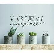 ADZif Blabla Une Vie Inspir e FR Wall Decal