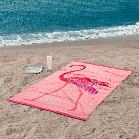 Better Homes & Garden 100% Cotton Flamingo Printed Beach Towel, 1 Each - Cheap Beach Towels In Bulk