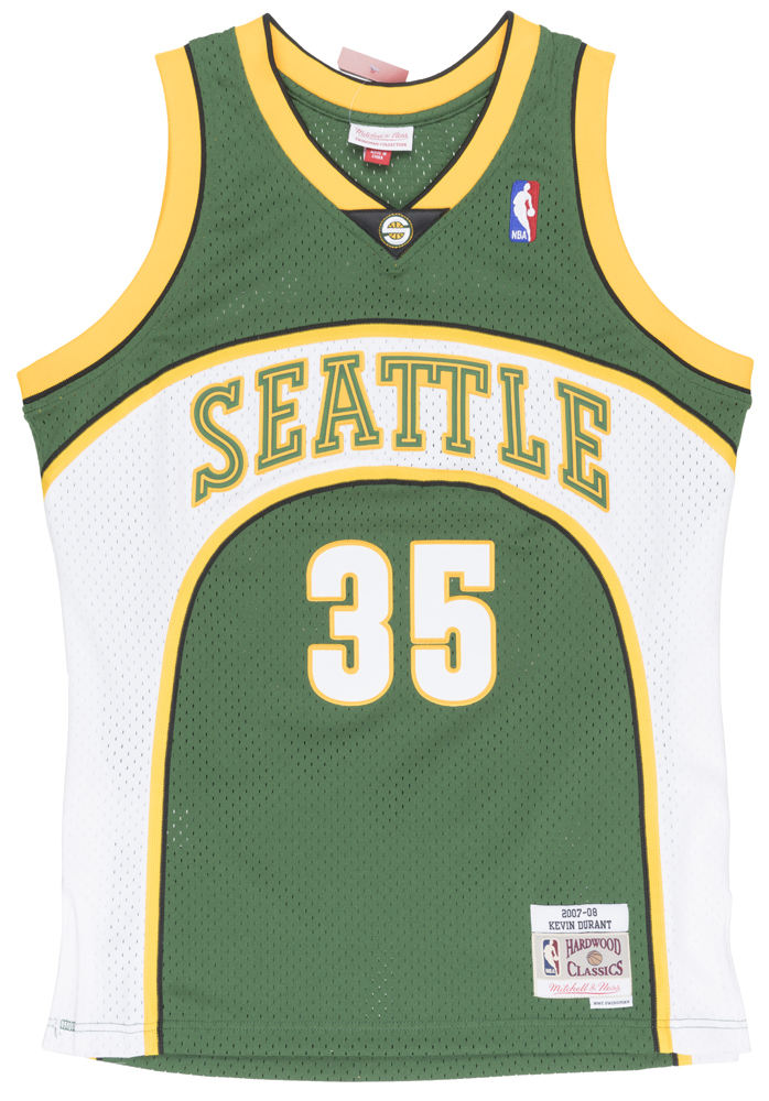 8afd0274ea9 Mitchell and Ness Kevin Durant Seattle Super Sonics Swingman Jersey Mens  Green - Walmart.com