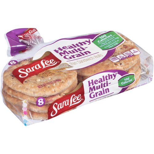 Sara Lee Healthy Multi-Grain Thin Sandwich Rolls, 8 count, 12 oz