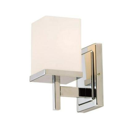 1 Tetra One Light (Maxim Lighting Tetra - One Light Bath Vanity, Polished Chrome Finish with Satin White)
