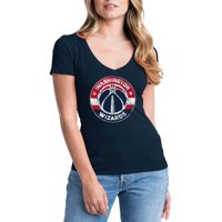 NBA Washington Wizards Women's Short Sleeve V Neck Graphic Tee