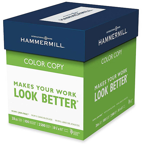 Hammermill Color Copy Paper, 8.5 x 11, 100 Brightness, 28 lb, 2,500 Sheets