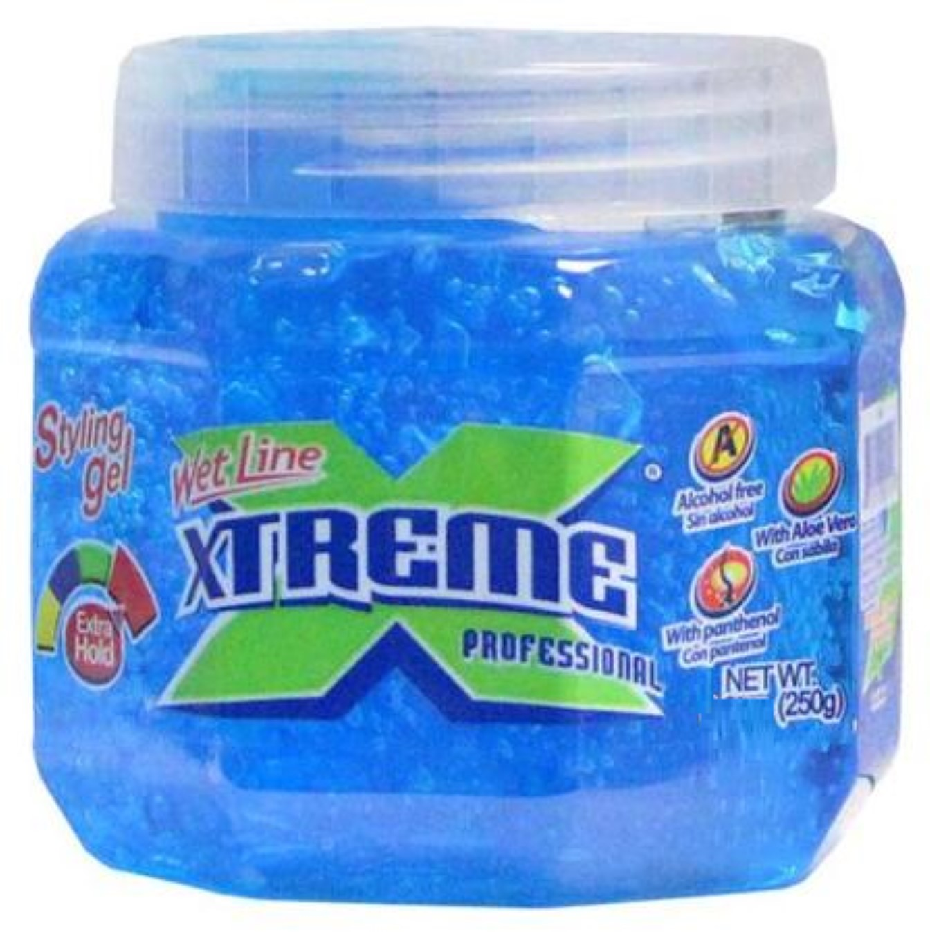 Xtreme Professional Wet Line Styling Gel Extra Hold Blue, 15.75 oz (Pack of 6)