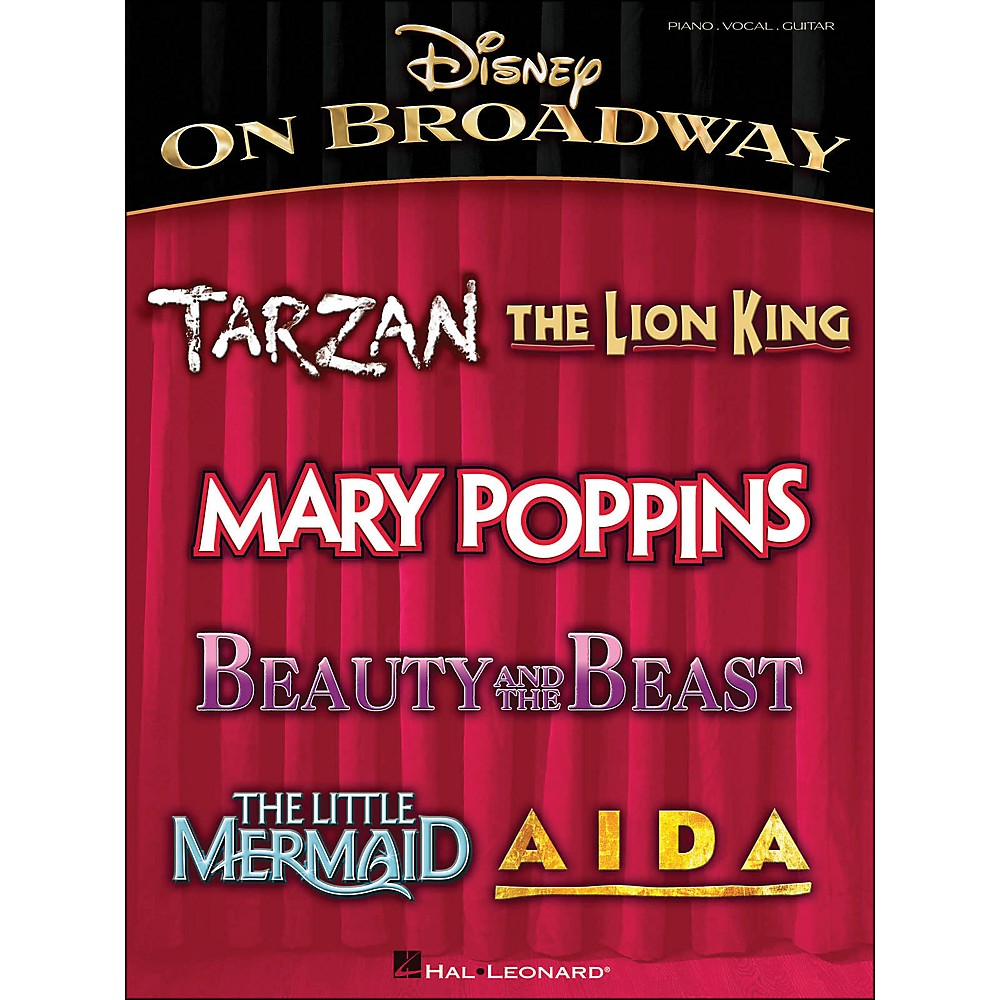 Hal Leonard Disney On Broadway arranged for piano, vocal, and guitar (P/V/G)