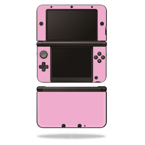 MightySkins Protective Vinyl Skin Decal Cover for Nintendo 3DS XL Original (2012-2014 Models) Sticker Wrap Skins Solid Pink