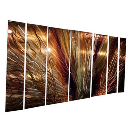 Sws00001 Metal Wall Art   Set Of 7   66W X 23 5H In