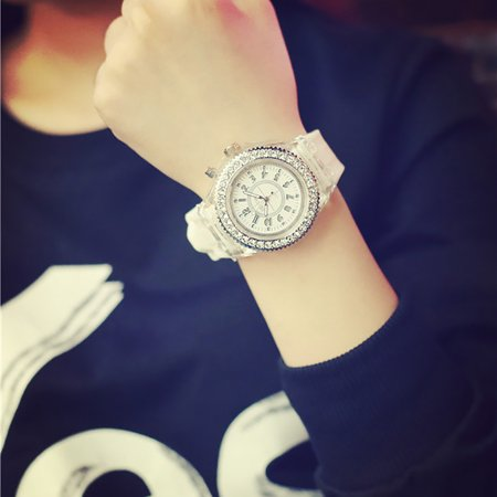 Iuhan Geneva LED Backlight Sport Waterproof Quartz Wrist Watches