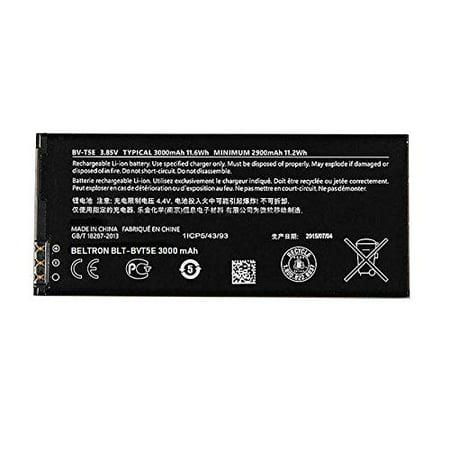 New 3000 mAh Replacement Battery for Microsoft Nokia Lumia 950 BVT5E BV-T5E ()
