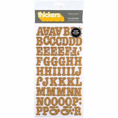 Thickers Chipboard Glitter Stickers 6