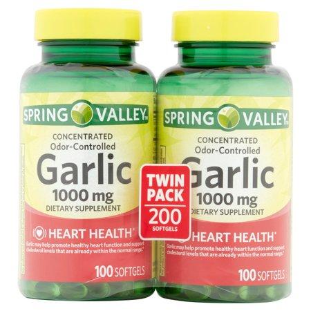 Odorless Garlic 1000 mg, Twin Pack
