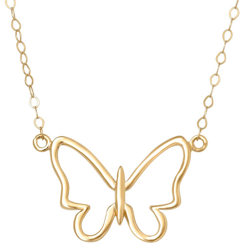 10k Butterfly Necklace