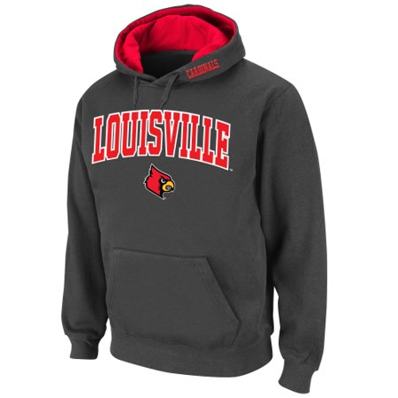 Louisville Cardinals Stadium Athletic Arch & Logo Pullover Hoodie - Charcoal