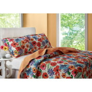 Greenland Home Fashions San Marino Crimson Crush Quilt Set