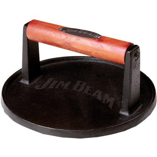 Jim Beam Jb0158 Cast Iron Burger Press With Wood Handle