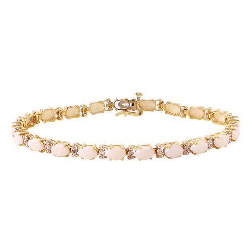 Foreli 5.51CTW Opal And Diamond 10K Yellow Gold Bracelet MSRP$4600.00 by Generic