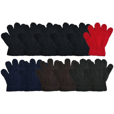 - Kids Winter Magic Gloves, 12 Pairs Warm, Cute, Fun, Colorful, Stretchy Wholesale for Boys or Girls, Toddlers Children (Assorted #4)