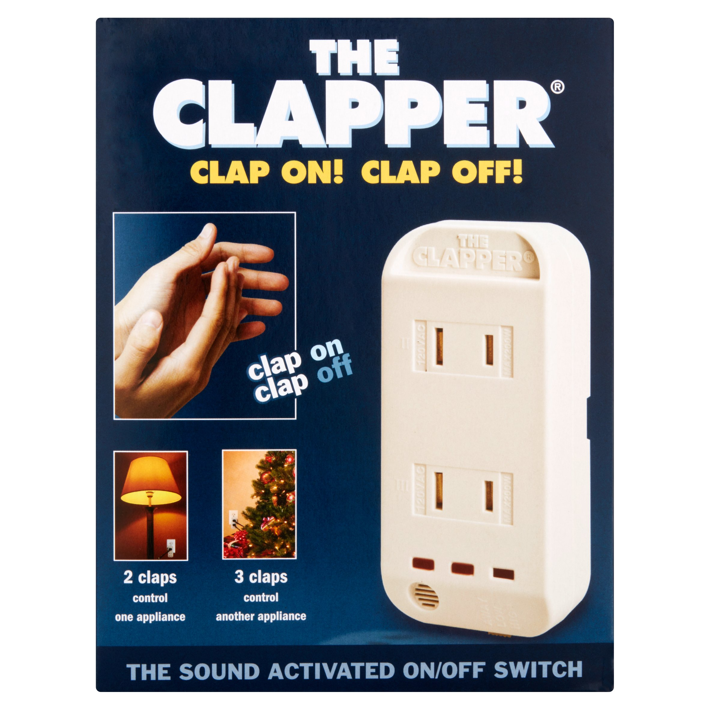 As Seen On TV   The Clapper   Sound Activated On/Off Switch   Walmart.com Part 93
